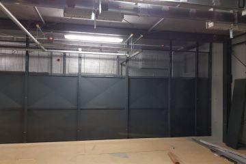 Gittertrennwand kombiniert Blech Gitter